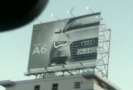 Audi A6 アウディ アイライン 屋外広告