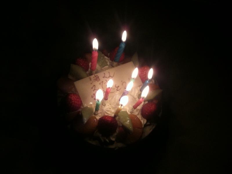 バースデーケーキ27歳