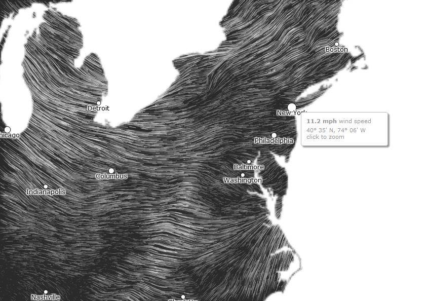 wind map(ウインドウマップ) new york