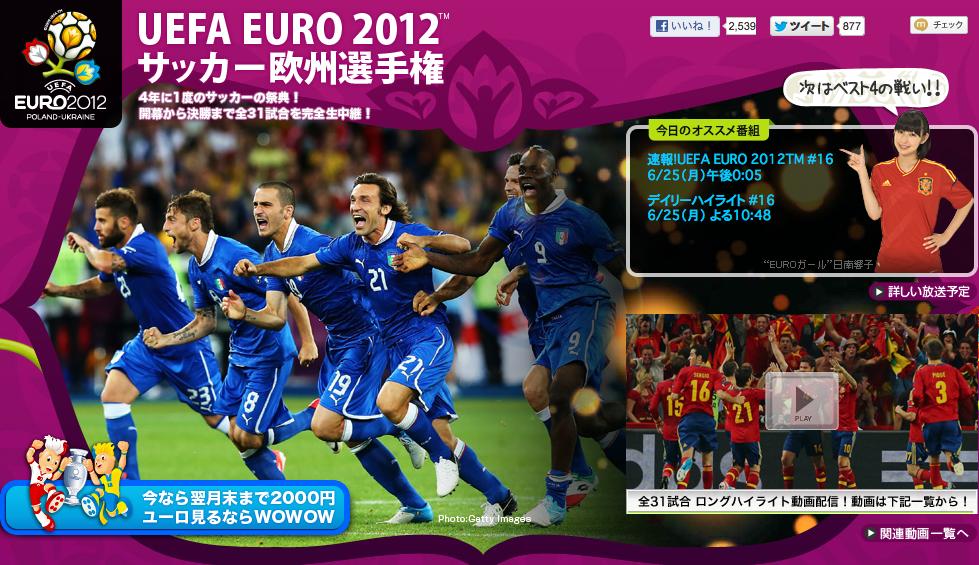 UEFA欧州選手権2012(EURO2012)